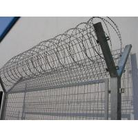 Single Coil Hot Dipped Galvanized Razor Wire Concertina For Commercial Sites Manufactures