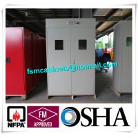 Full Steel Flammable Gas Cylinder Drum Storage Cabinets , Lab Drum Gas Cyliner Storage Cabinets Manufactures