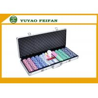 500 Ct Striped Dice 11.5 Gram Poker Chips Sets W / Aluminum Case Manufactures