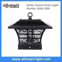 Buy cheap 4''x4'' inch Square Solar Post Cap Light Glass Fence Decor Lights for Wood Posts from wholesalers