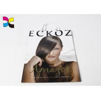 China Hair Care Items Printed Carrier Bags With White Handle In CMYK Color Eco - Friendly on sale