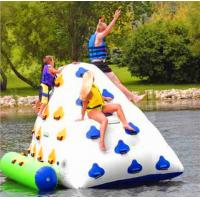 Customized Outdoor White / Blue Inflatable Water Toys For Summer 0.85*0.85*1.5 Manufactures
