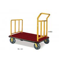 Hotel Lobby Room Service Trolley Stainless Steel Mirror Gold Finish with Red Carpet Platform Manufactures