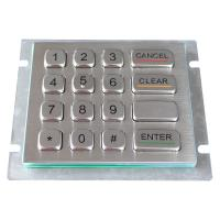 IP66 304 Stainless Steel rear panel mounting industrial Keypad For outdoor applications Manufactures