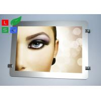 Round Corner LED Light Box Display , Magnetic Photo Light Box With Wire Hanging System Manufactures