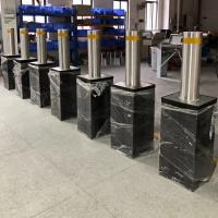 Car Parking Lot Automatic Rising Bollards With Led Light Embedded Bucket Manufactures