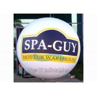 Quality Commercial Activity Inflatable Sphere Branded Balloon White / Yellow / Blue for sale