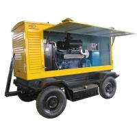 Mobile Electric Generator Set 375KVA  With Soundproof Canopy Manufactures