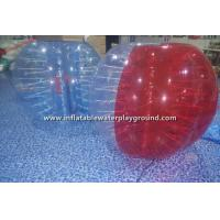 Red / Clear Inflatable Bubble Ball For Humans , Bump Ball Game Bubble Football Suit Manufactures