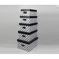 Black White Handmade High Gloss Gift Boxes Recetangle with Flushed Lid Manufactures