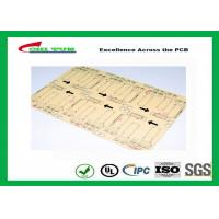 CNC / V-CUT Surface Finish Single Sided Printed Circuit Board with Black Sillkscreen Manufactures