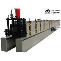 Rectangle Shape Rain Gutter Making Machine , Steel Gutter Roll Forming Machine Manufactures