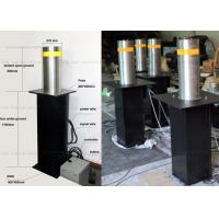 Traffic Guard Automatic Rising Bollards for Driveways , Steel Vehicle Barrier Posts Manufactures