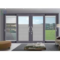 Quality Powder Coated Aluminium Sliding Doors Bullet Proof For Supermarket / Shopping for sale