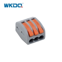 222-413 Replace 3 Pole Quick Push In Connectors For Electrical Wiring With Operating Levers Nylon PA66 Material Manufactures