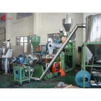 185 KW Two Stage PVC Plastic Pelletizing Line 60rpm , Pellet Maker Machine Manufactures