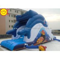 Outdoor Dolphin Inflatable Water Slide Blue Dolphin Waterpark Slide for Adults and Kids Manufactures