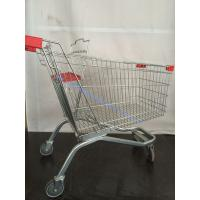 China Retail Shop French Metal Shopping Trolley with Baby Seat Chrome Plated on sale