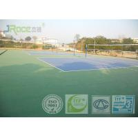 Olympic Tennis Court Surface , PU Sports Flooring Anti Slippery Sound Reduction Manufactures