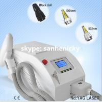 Q switch tattoo removal nd yag laser machines with CE approved / 1064 nm 532nm nd yag lase Manufactures