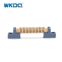 Netural Terminal Bus Bar Blue Terminal Block With Holder For Home Appliances Manufactures
