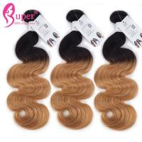 4X4 Peruvian Black Blonde Ombre Hair Extensions 6A 7A 8A No Chemical Smell Manufactures
