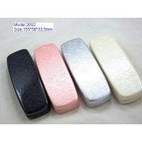 Custom Optical Glasses Case PU Leather / PVC Leather Material With Silk Screen Manufactures