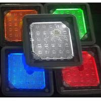 4x4'' square white blue green yellow red Solar landscaping paver brick lights stainless steel pathway lights Manufactures