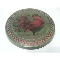 China CYMK Printing Promotional Tin Cans , 0.22mm Gas Stove Burner Cover ,Metal Lid on sale