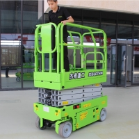 AWP Mobile 6m hydraulic small Scissor Lift with 230kg capacity Manufactures