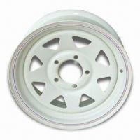 Small Trailer Wheel Rims, Comes with 139.7mm PCD, Measures 14 x 6, 15 x 6 and 16 x 6 Manufactures
