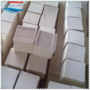 Dense cordierite alumina Ceramic Honeycomb monolith block for heat storage Manufactures