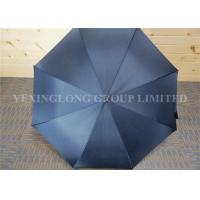 Strong Windproof Straight Handle Umbrella For Men Fiberglass Frame And Ribs Manufactures