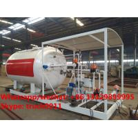 China made high quality and lower price 10cbm mobile skid lpg gas storage tank with digital weighting scale for sale Manufactures