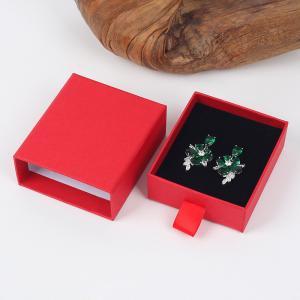 China Drawer Shape Spot Goods Velvet Inner Kraft Paper Jewelry Shipping Boxes on sale