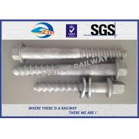 M24 X 214mm Railway Sleeper track spikes or screw spikes With HDG coatings Manufactures