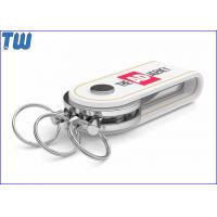 Leather Key Ring Buckle 16GB USB Flash Drive Swivel Metal Cover Manufactures