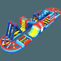 80 x 10m Runway Inflatable Challenging Course Competitive Obstacle Fun Run Manufactures