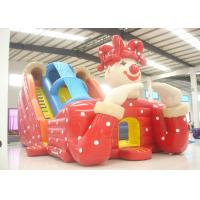 Big clown cartoon inflatable slide - inflatable long slide with arch Manufactures