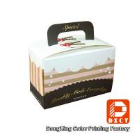 Quality Custom Made Cake Packaging Boxes , Cardboard Handmade Cake Box Packaging for sale