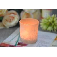 Gifts Tealight Glass Candle Holder Orange Romantic Heat Resisting Manufactures