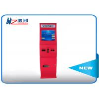 Red 55 inch IP66 free standing kiosk waterproof media floor standing kiosk Manufactures