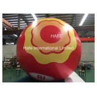 China Custom Led Inflatable Helium Balloon Lights , Moon Light Ball Print Logo on sale