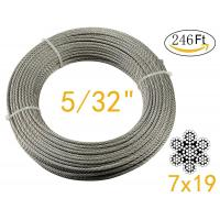 Stainless Aircraft Steel 7x19 wire rope For Railing ,Decking, DIY Balustrade , 5/32Inch Manufactures