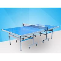 Easy Install Blue Ping Pong Table , Aluminum Ping Pong Table Movable With Logo Manufactures