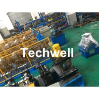 Carbon Steel Shutter Door Guide Rail Roll Forming Equipment With 16 Roller Stations Manufactures
