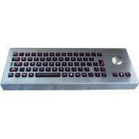 Desktop movable illuminated metal keyboard with integrated trackball IP65 Manufactures