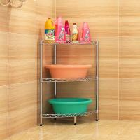 H302 Height Adjustable Bathroom Shelf Rack , 3 Tier Bathroom Stand For Sundries Manufactures