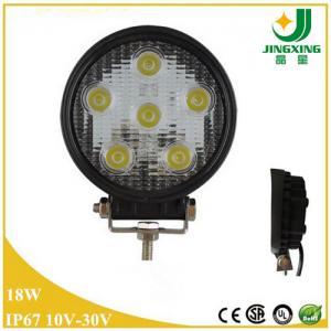 Car led light round shape 10-30V spot beam 18w led work lamp IP67 Manufactures