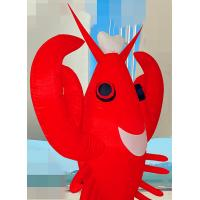 3 M Oxford Cloth Inflatable Cartoon Characters Inflatable Lobster For Shop Decoration Manufactures